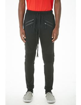 American Stitch Ankle Zip Moto Joggers by Forever 21