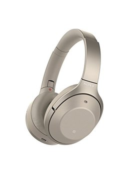 Sony Noise Cancelling Headphones Wh1000 Xm2: Over Ear Wireless Bluetooth Headphones With Microphone   Hi Res Audio And Active Sound Cancellation   Gold (2017 Model) by Sony