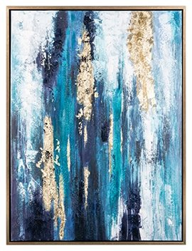 "Signature Design By Ashley A8000218 Wall Art, 1.5"" D X 47.24"" W X 35.43"" H, Dinorah Blue by Signature Design By Ashley"