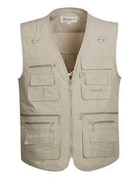 Gihuo Men's Summer Outdoor Work Safari Fishing Travel Vest Pockets by Gihuo