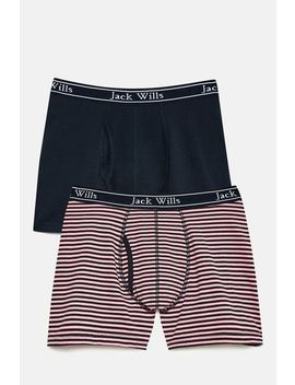 Chetwood Fine Stripe Boxers   2 Pack Set by Jack Wills