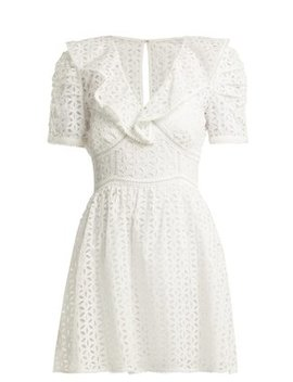 Petal Embroidered Cotton Mini Dress by Matches Fashion