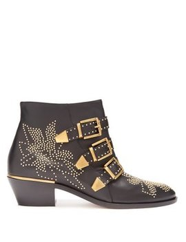 Susanna Leather Ankle Boots by Matches Fashion