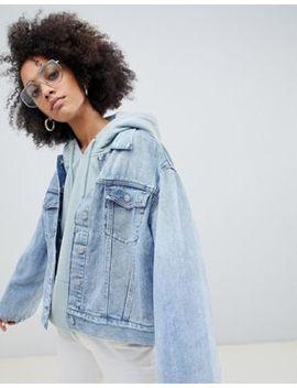 Weekday Girlfriend Denim Jacket With Wide Sleeve Detail by Weekday