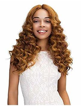 Janet Collection Extended Part Deep Swiss Lace Front Wig   Gabriela (1 B) by Janet Collection
