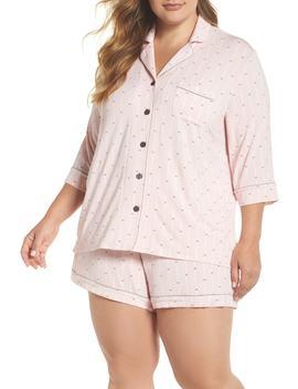 Modal Three Quarter Sleeve Short Pajamas (Plus Size) by Pj Salvage