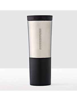 Starbucks Brushed Silver & Black Stainless Steel Tumbler (20 Fl Oz) by Starbucks