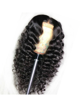 Curly Wig Brazilian Lace Front Human Hair Wigs For Black Women With Pre Plucked Bleached Knots Lace Front Wig Remy Hair Full End by King Rosa Queen