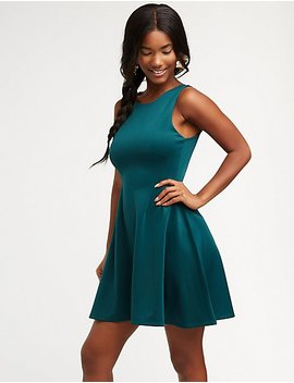 Sleeveless Skater Dress by Charlotte Russe