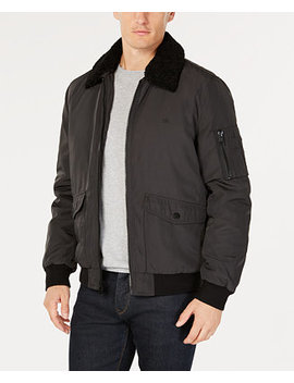 Men's Bomber Jacket With Sherpa Fleece Collar by Calvin Klein