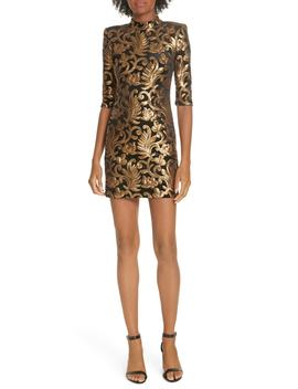Inka Sequin Flora Dress by Alice + Olivia