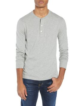 Slim Fit Garment Dyed Slub Cotton Henley by J.Crew
