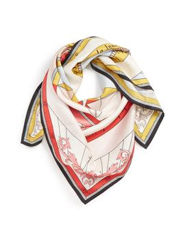 Constellation Square Silk Scarf by Tory Burch