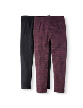Women's Plus Size Fleece Lined Spacedye 2 Pack Leggings by Terra & Sky