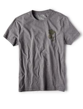 Free State Camo Rose Graphic Tee by Aeropostale