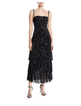 Pierre Starry Tiered Gown by Donna Mizani