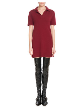 Iconic Cashmere Short Sleeve Polo Dress by Chloe