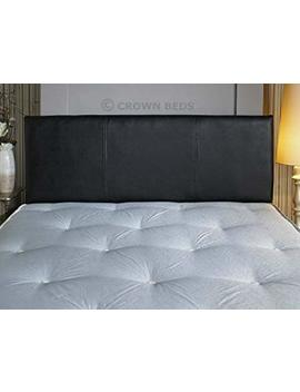 Quality Faux Leather 3 Ft (Single) Headboard (Black) by Crownbedsuk