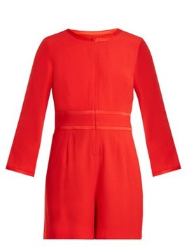 Fillie Long Sleeved Crepe Cady Playsuit by Matches Fashion