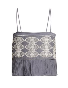 Saksi Lace Embroidered Cami Top by Matches Fashion