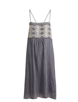 Saskia Pintucked Cotton Blend Georgette Dress by Matches Fashion