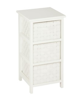 3 Drawer White Storage Chest by Honey Can Do