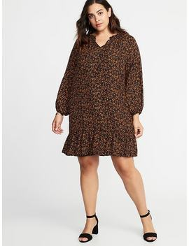 Ruffle Trim Plus Size Georgette Swing Dress by Old Navy
