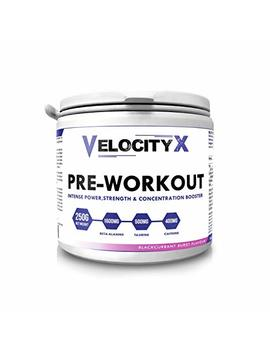 Velocity X Pre Workout – Blackcurrant Flavor – Pre Workout  31 Servings. With Beta Alanine, Taurine And Caffeine. by Velocity X