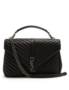 Collège Large Quilted Leather Shoulder Bag by Matches Fashion
