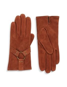 Classic Lambskin Suede Gloves by Frye