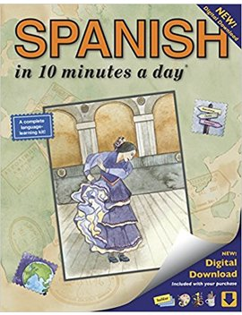 Spanish In 10 Minutes A Day: Language Course For Beginning And Advanced Study.  Includes Workbook, Flash Cards, Sticky Labels, Menu Guide, Software, ... Grammar.  Bilingual Books, Inc. (Publisher) by Kristine K. Kershul