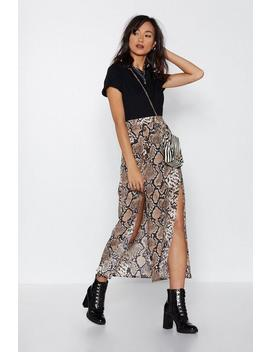 Cold Heart Snake Print Skirt by Nasty Gal