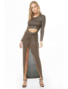 Geo Metallic Maxi Dress by Forever 21