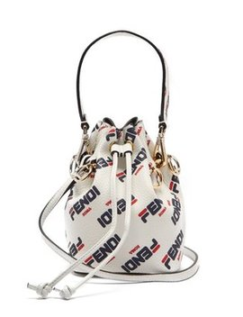 Mania Mon Tresor Mini Leather Bucket Bag by Matches Fashion