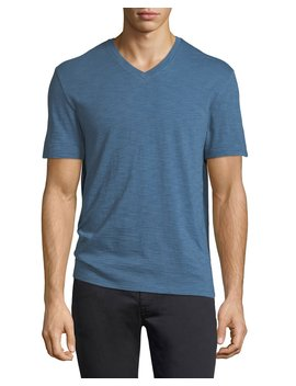 V Neck Jersey T Shirt by Vince