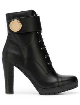 Ankle Strap Ankle Boots by Emporio Armani