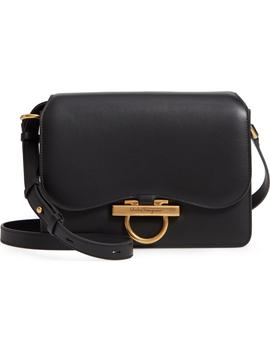 Medium Classic Flap Leather Shoulder Bag by Salvatore Ferragamo