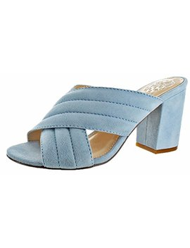 Vince Camuto Bemia Women's Open Toe Criss Cross Heeled Sandal Shoes by Vince+Camuto