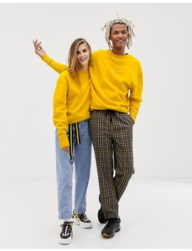 Collusion Unisex Sweatshirt In Yellow by Collusion
