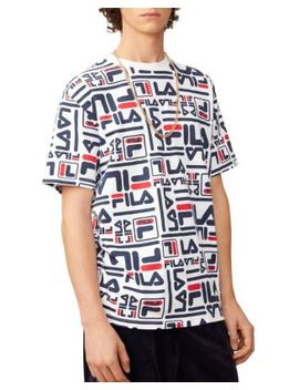 Charlie Allover Logo Print Tee by Fila