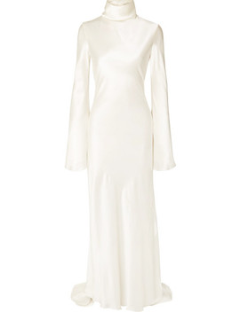Silk Satin Turtleneck Gown by Ellery