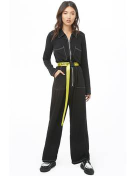 Contrast Stitch Jumpsuit by Forever 21
