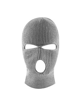 Knit Sew Acrylic Outdoor Full Face Cover Thermal Ski Mask By Super Z Outlet, Gray, One Size Fits Most by Super Z Outlet