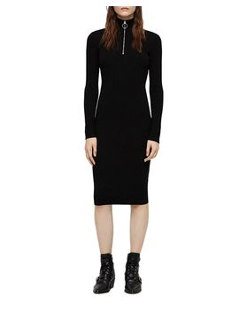 Lacey Ring Zip Sweater Dress by Allsaints
