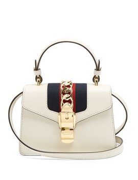 Sylvie Mini Leather Shoulder Bag by Matches Fashion