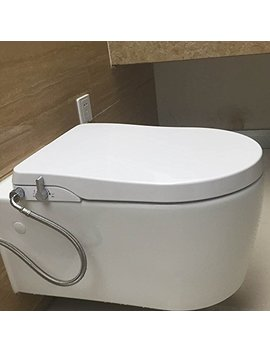 Hibbent Non Electric Bidet Toilet Seats   No Electricity Bathroom Bidet Seats With Dual Nozzles Sprayer For Bidets And Rear Washing   European Style U Shaped(D Shaped)   Ob104 by Hibbent