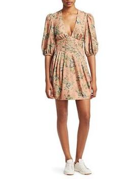 Tempest Silk Corset Waist Mini Dress by Zimmermann