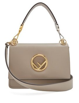 Kan I Logo Leather Shoulder Bag by Matches Fashion