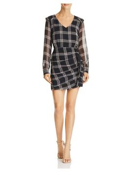 Anthea Ruched Plaid Dress by Heartloom