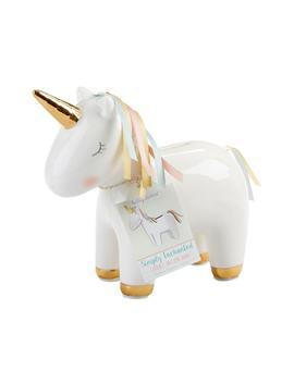 Ceramic Unicorn Bank by Baby Aspen
